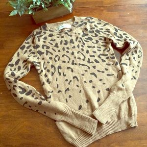 🌺 Zara Knit Cheetah print sweater in size S